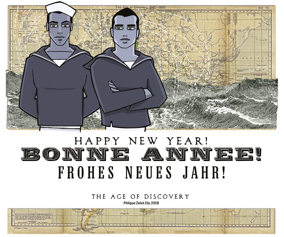 Bonne Annee - Happy new year - Frohes neues Jahr